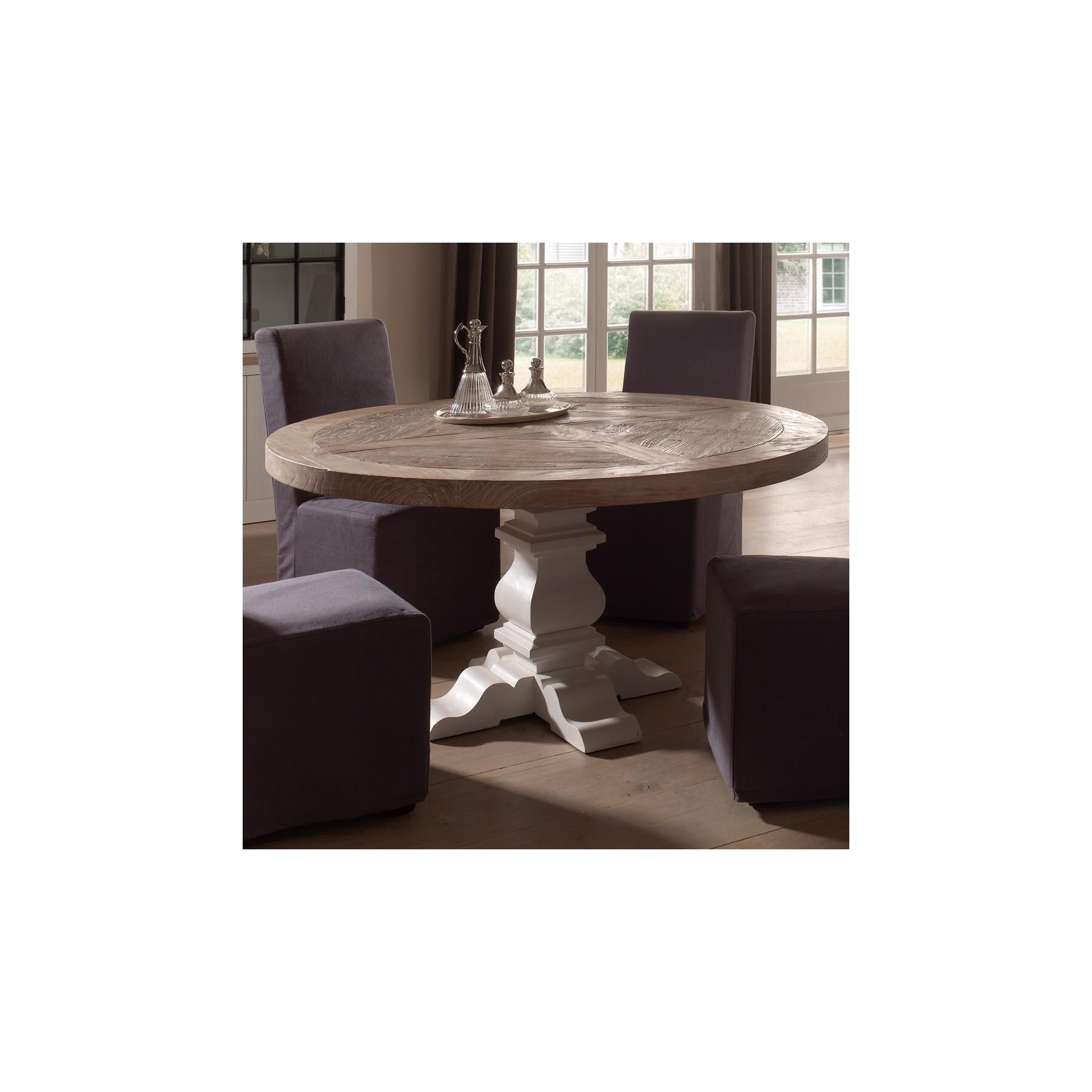 Mesa comedor redonda madera islas baleares pictures car for Comedor mesa redonda