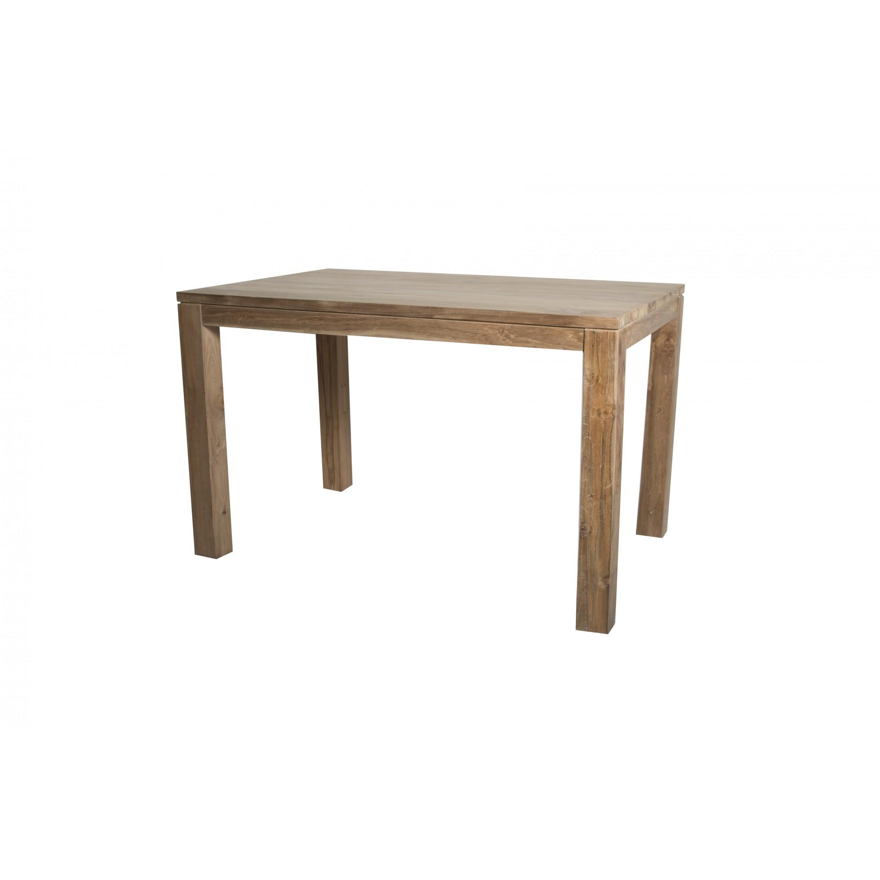 mesa de comedor en teca natural