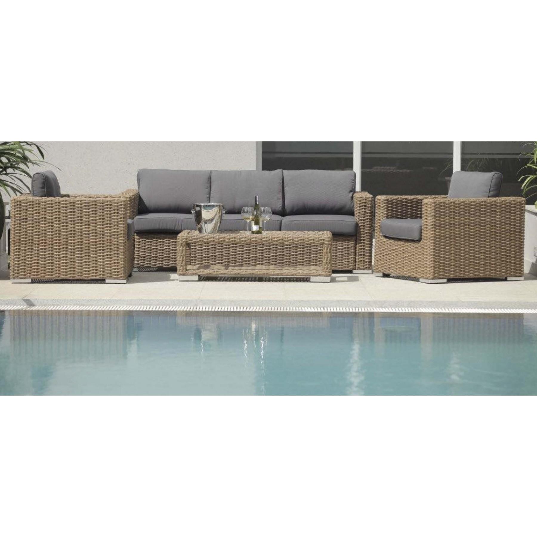 Sillas Mesas Tumbonas Sofas Ratan Sintetico Fibra Jardin Exterior  # Muebles Terraza Baratos