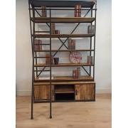 Librería con escalera madera Mango/metal